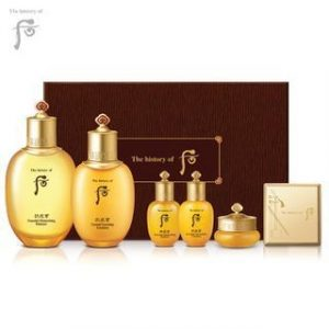 GlowingGorgeous -The History of Whoo-Gongjinhyang In Yang Set: Balancer 150ml + 20ml Lotion 110ml Qi & Jin Cream 10ml Lip Palette 6pcs