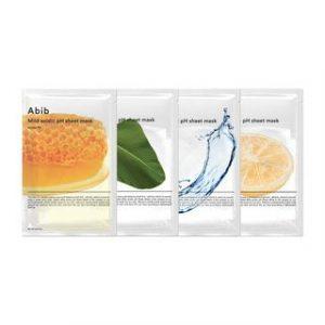 Korean Beauty Skincare -Abib-Mild Acidic pH Sheet Mask Set - 4 Types Yuja Fit