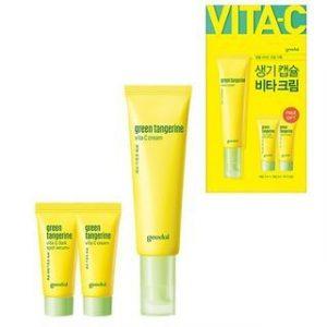 Korean Beauty Skincare -Goodal-Green Tangerine Vita C Cream Set 3 pcs