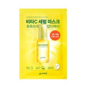 Korean Beauty Skincare -Goodal-Green Tangerine Vita C Dark Spot Serum Mask 1pc 30ml