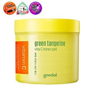 Korean Beauty Skincare -Goodal-Green Tangerine Vita C Toner Pad 70pcs