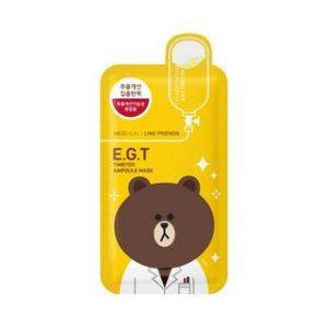 Korean Beauty Skincare -Mediheal-E.G.T Timetox Ampoule Mask Set 10pcs (Line Friends Edition) 27ml x
